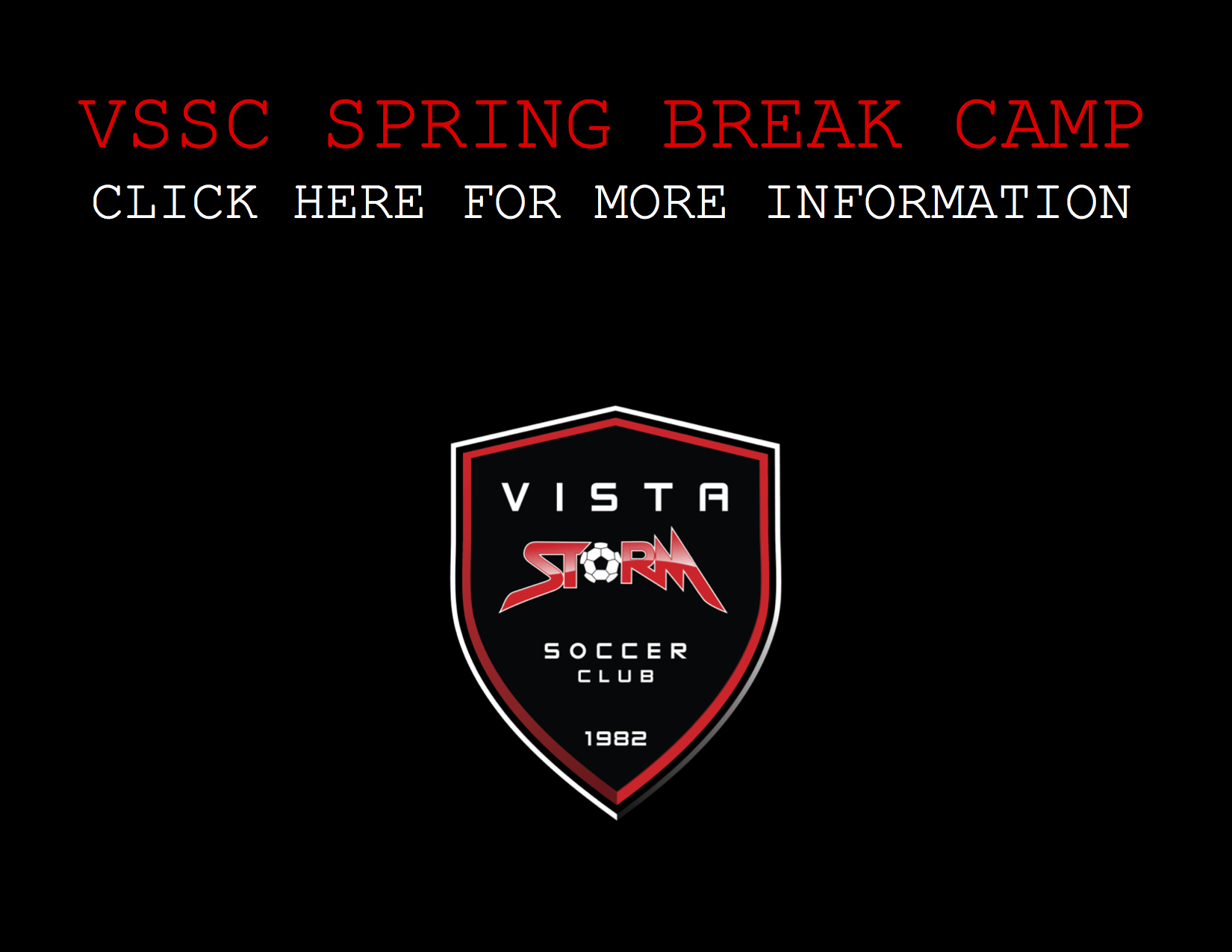Vista Storm S.C. Spring Break Camp