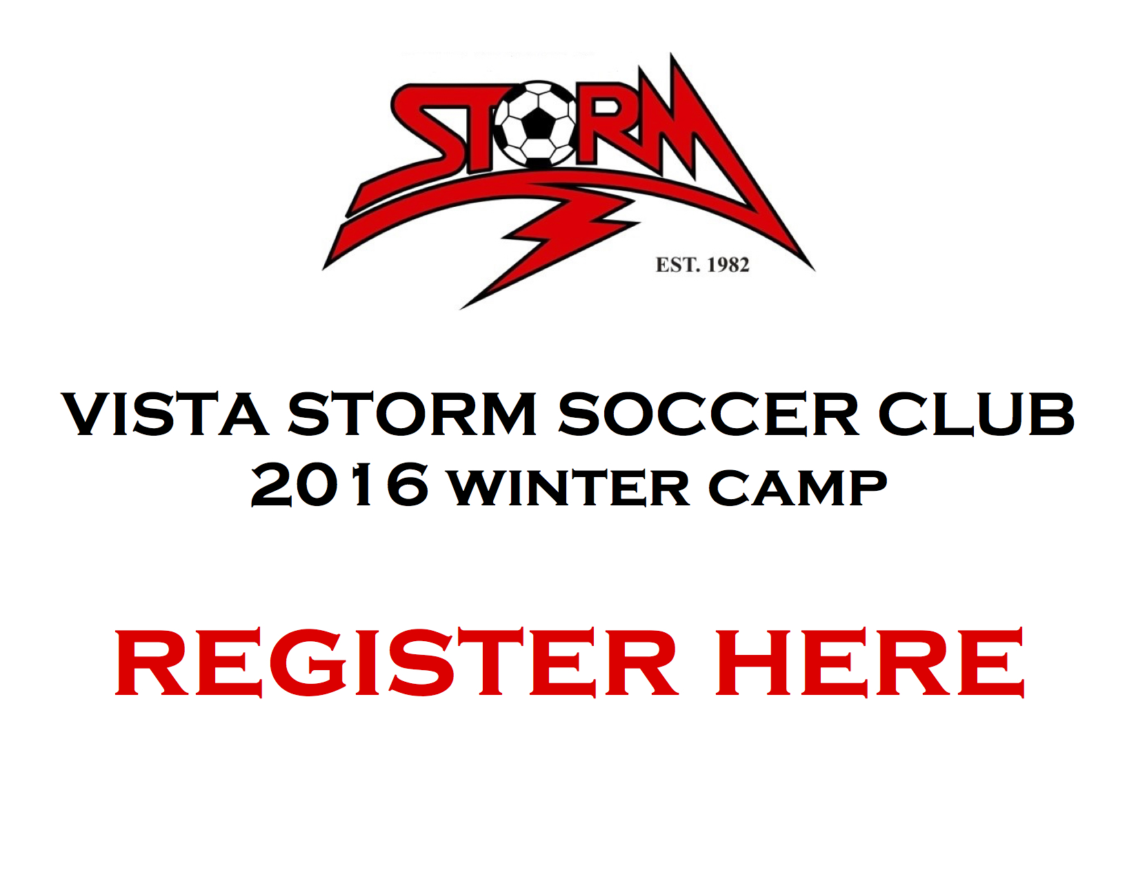 VISTA STORM WINTER CAMP ANNOUNCED
