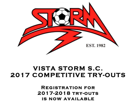 Vista Storm Try-outs Today